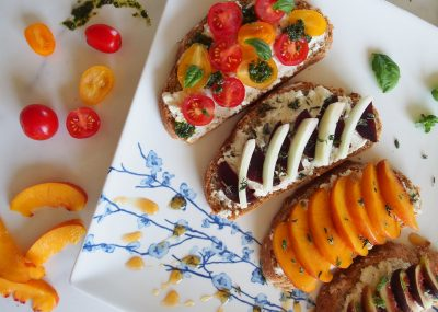 Sweet and Savory Open-faced Sandwiches