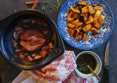 Apple Cider braised chicken and squash