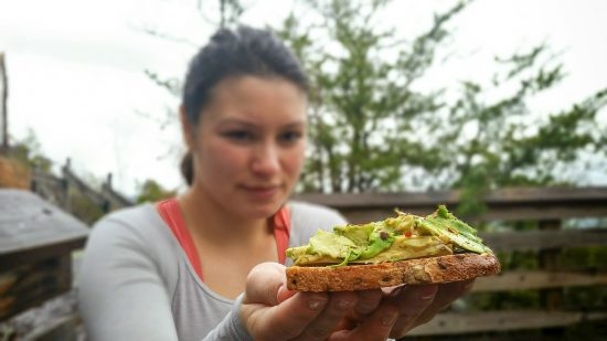 avocado toast camping